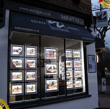Real Estate Agents LED Light Pockets LED Window Display