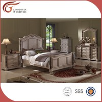 Furniture with marble antique white bedroom sets WA138