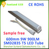 Patent design CE ROHS cool white T5 48pcs SMD2835 led tube light price list