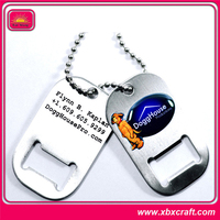cheap decorative bottle opener dog tags