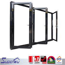 Hot sales transparent aluminum bi-folding glass doors design