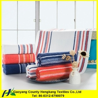 Wholesale Color Striped Cheap Cotton Hand Towel For India Market