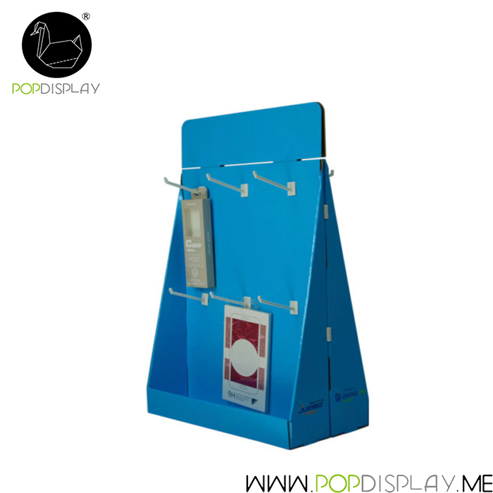 Socks Paper Stand Case Retail Hanging Counter Display For Advertising