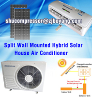 Split wall mounted solar cooler energy air conditioner system of solar AC solar AC conditioner