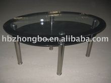 2013 Hot sell oval glass dining table
