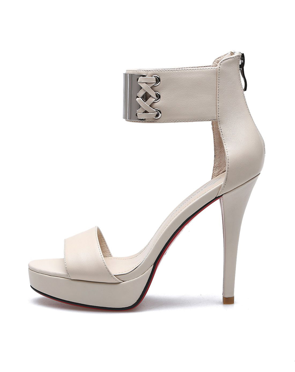 Platform shoe sandals fashion strap high heel sandals lady shoes Italian summer dress shoes