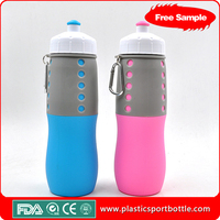 2015 newest China Manufacturer Squeezable Silicone Water Bottle/Silicone Sport Products