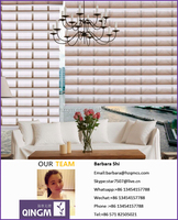 QINGM Latest home decor window fabric of gradiente wellman blinds shangri la roller blinds