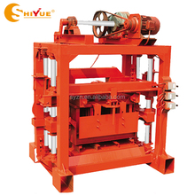 QTJ4-40B2 manual hand press interlocking brick machine for solid brick hollow blocks