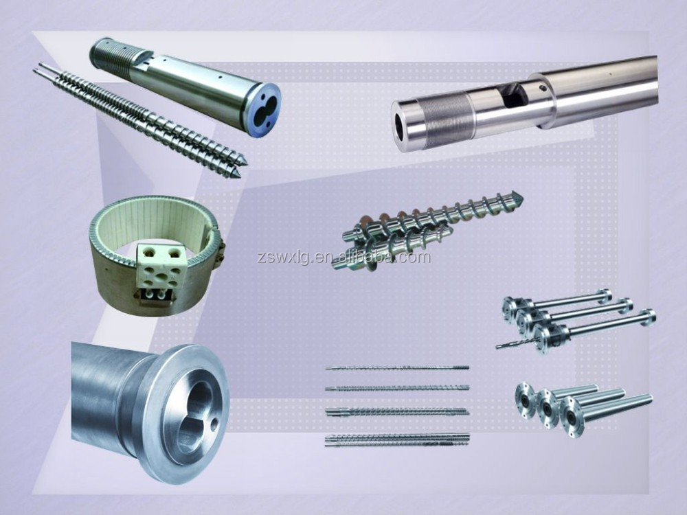 China zhoushan screw and barrel of rubber machine/Personal design screw with lowest price