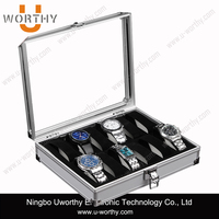 Watch Display Case Jewelry Collection Storage Aluminium Box