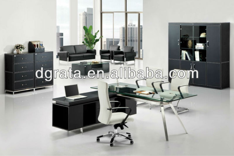 2013 simple office table design,latest office table designs,home office furniture was made of melamine board+glass