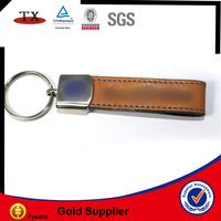 promotional leather key tags ring holder fob