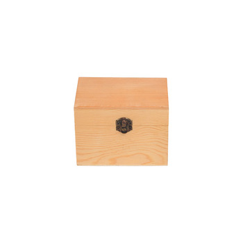 Wooden Jewelry Food Storage Box with Latching Lid and 6 partitions