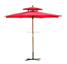 wood outdoor umbrella
