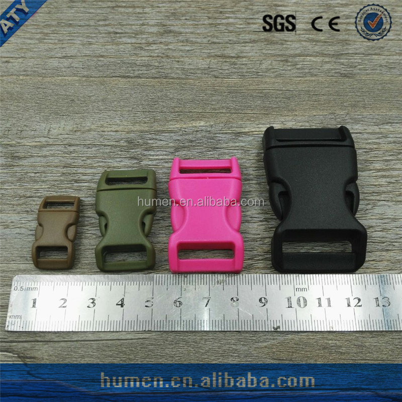 colorful customed logo side release plastic buckle
