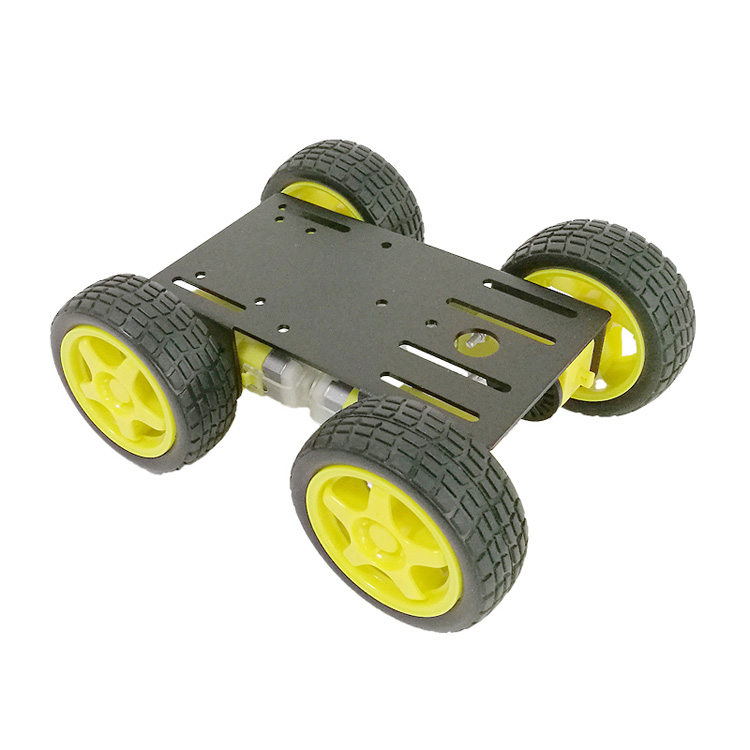 <strong>C101</strong> 4wd Smart Robot Car Kit with 4pcs TT motor, 65mm Rubber Wheel, 2mm Aluminum Chassis for DIY Robot Graduation Project