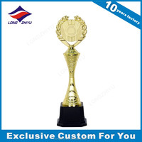 Cheap golden sample trophy with ready-made mould