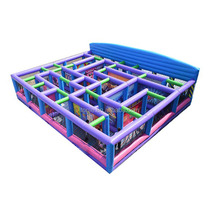 popular inflatable fun maze for kids, colorful maze inflatable obstacle course for rental business activity
