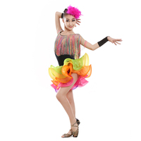 Kids Tassel Latin Dance Dress Girls