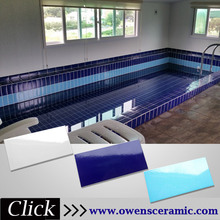 244X119MM ceramic cobalt blue bullnose swimming pool tile