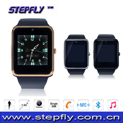 1.54 inch capacitive touch screen bluetooth 3.0 NFC smart watch phone SF-GT08
