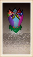 Rainbow Multi Color Exciting Musical Lotus Flower Birthday Candle