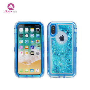 For iphone X glitter liquid phone case luxury girl like sparkle cover shockproof pc tpu hybrid alibaba in stock