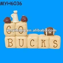Football team souvenir crafts resin letter blocks