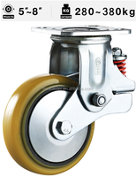 Swivel Caster Shock Absorbing Caster PU wheel Iron core
