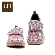 UIN Geometry latest design girls famous brand italian kids girls casual school shoes