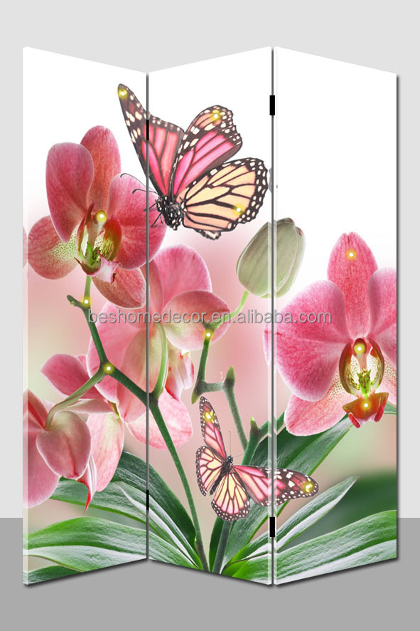 3-Panel Double Sided Painting floor screen projector modern room Art Screen