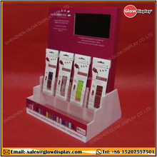 "Acrylic Nail Polish Cosmetic Lotion Display Instant Nail Display with 7"" LCD Screen Video Player"