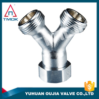 Brass Pipe Fitting Y type Elbow Pipe Fitting Nickle plating