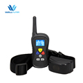 Dogs Obedience Water Resistant 300 Yards Blue LED Backlight Electric Bark Device Remote Control Dog Training Collar