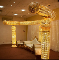 New hot gold indian wedding mandap designs at wedding and event decorate