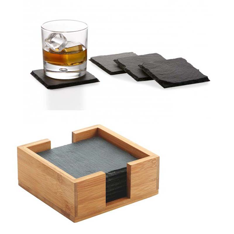 4pcs Slate Drink Coasters