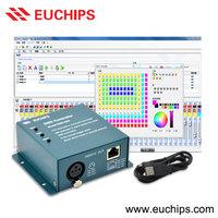 Shanghai Euchips manufacturer free software dmx512 USB dmx controller
