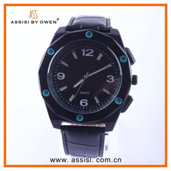 Assisi brand China Manufacturer Arabic Numerals Dial Japan Movt Wrist Watch, Man watches Top 2014