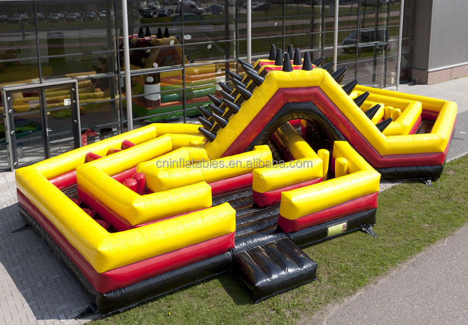 Inflatable obstacle course The Battle for sale/inflatable games bouncy