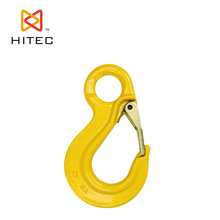 marine hardware, ISO9001, high quality, alloy steel G80 eye sling hook with latch