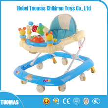 China round baby walker factory supply best quality walker for baby with toys