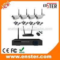 HD h.264 p2p 720P 4pcs bullet waterproof wifi ip camera wireless NVR kit h.264 standalone network dvr with camera kit