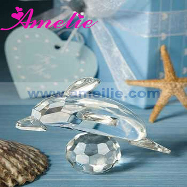 A013 Wholesale Animal Dolphin Favor Design Personalized Crystal Gift