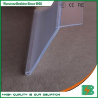 Boshine Adhesive Plastic Price Label Holders Clear Data Strip for supermarket