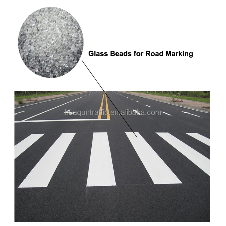 Quality assured wholesale glow in the dark reflective road marking paint glass beads
