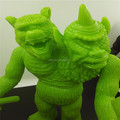 Custom 10 inch sofubi two heads vinyl figurines, custom design plastic figurines, wholesale price vinyl toys suppliers