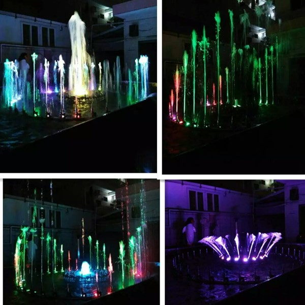 Factory Supply 304 Stainless Steel Garden Outdoor Indoor Colorful Waterfall 3D Floating Music Water Fountains