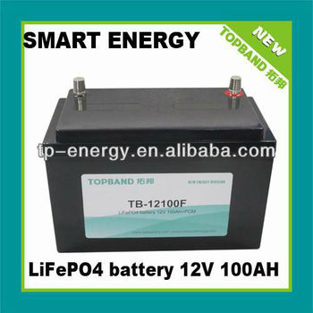 Motor home 12V 100Ah lithium rechargeable batteries