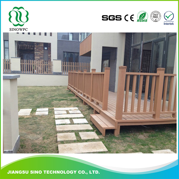 Recycled Material Waterproof Outdoor Wpc Garden Fence